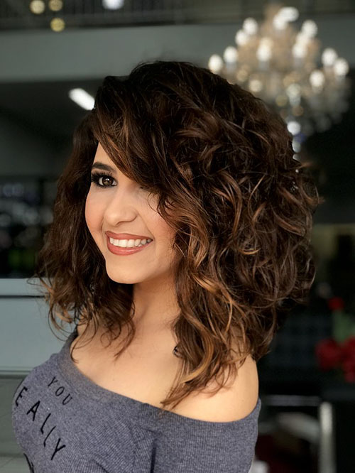 Curly Inverted Bob Hairstyles In 2020