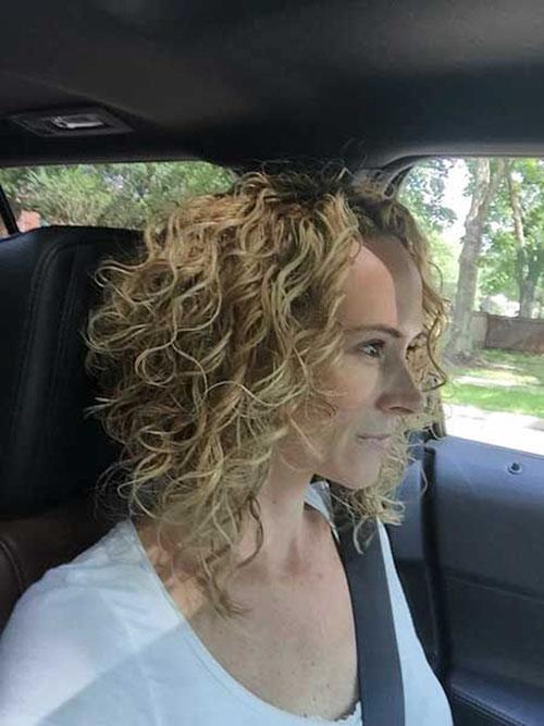 Inverted Bob Haircut Curly Hair