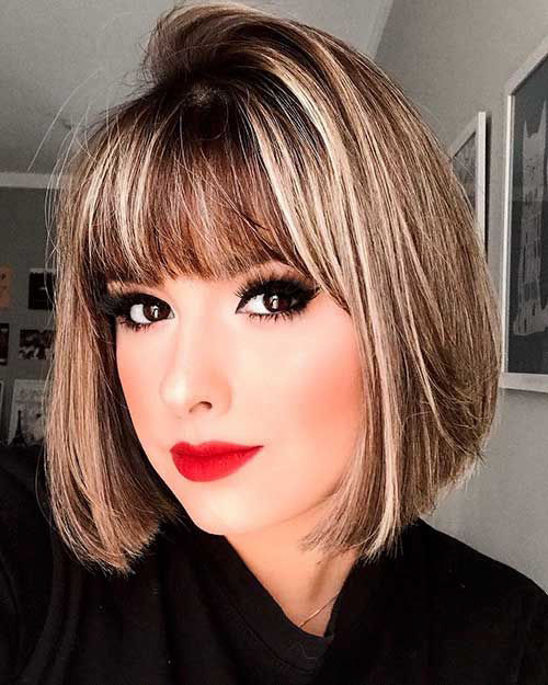 Medium Bob Hairstyles With Bangs