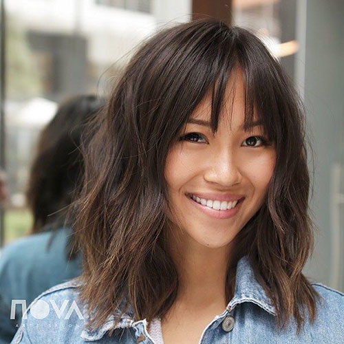 Medium Bob Cut With Bangs