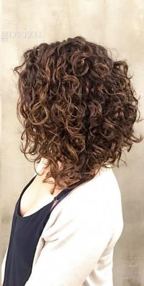 Curly Inverted Bob 2020