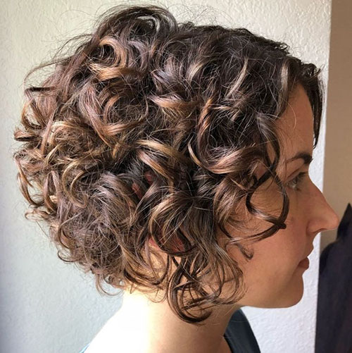 Inverted Curly Bob Hairstyles