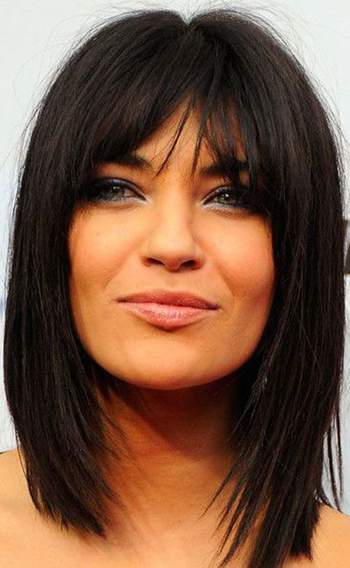 Medium Hair Bob With Bangs