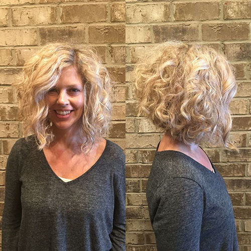 Curly Hair Inverted Bob Pictures