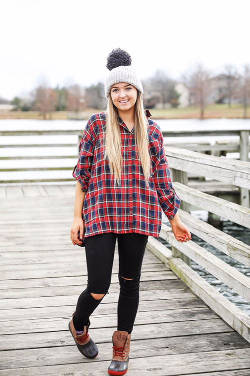 Cute Flannel Outfits Women